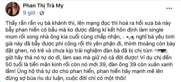 Nữ diễn viên mỉa mai Khánh Thi trả tự do cho Phan Hiển tiếp tục công kích, lời lẽ tục tĩu khiến netizen phẫn nộ-2