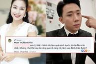 Ốc Thanh Vân lên tiếng bênh vực Trấn Thành giữa ồn ào sao kê, nói gì khi đàn em bị so sánh với vợ chồng Lý Hải - Minh Hà?