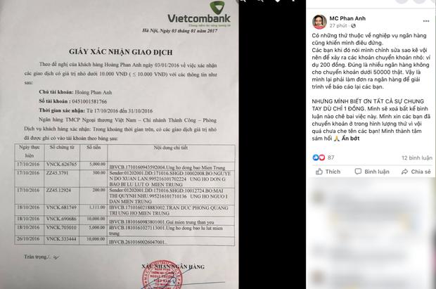 MC Phan Anh tung 6,5kg sao kê 24 tỷ kêu gọi cứu trợ miền Trung năm 2016, chấp nhận bị kiện nếu phát hiện dấu hiệu ăn chặn!-5