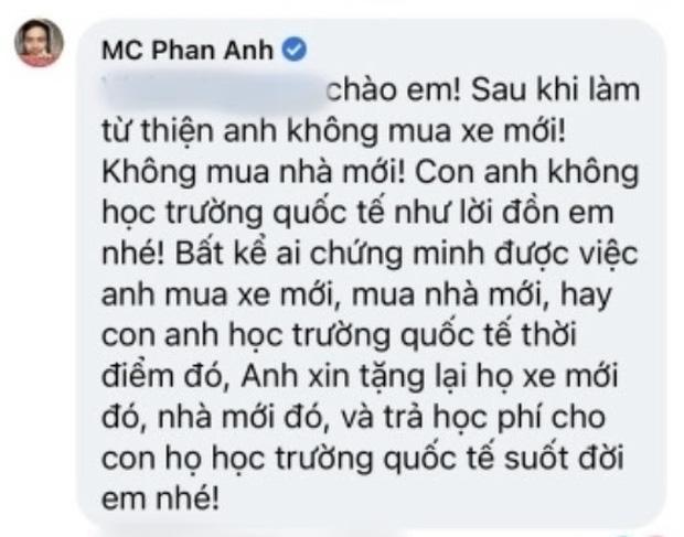 MC Phan Anh lên tiếng trước loạt tin đồn bị cấm sóng, tậu nhà đẹp, xe sang, con học trường quốc tế sau khi kêu gọi từ thiện-2