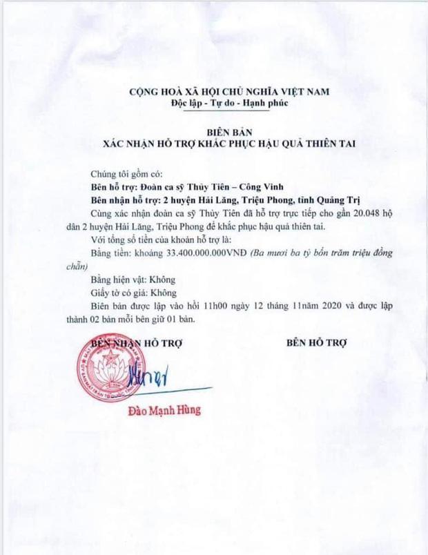Netizen tranh cãi hình ảnh Thuỷ Tiên tặng thuyền máy cứu trợ miền Trung nhưng chỉ ghi tên 2 vợ chồng, phía chính chủ nói gì?-5