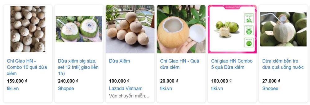 Dừa tươi duy trì mức bán cao trên chợ mạng, mỗi quả giá 25.000 đồng được chốt đơn ầm ầm-6