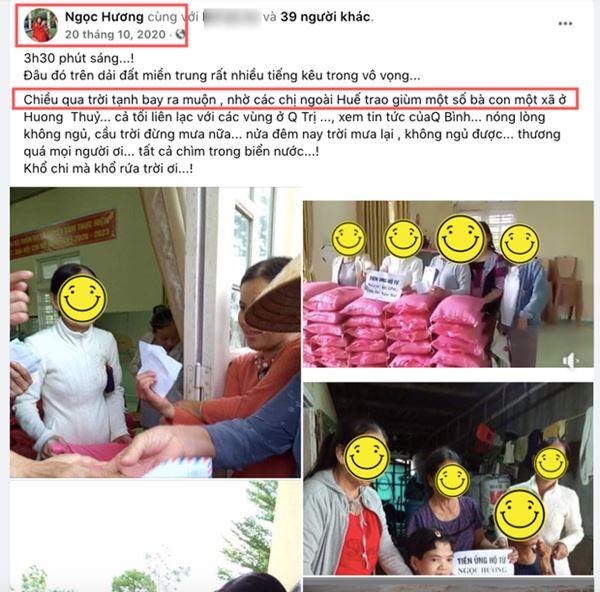 Đến mẹ Hà Hồ bị soi chi tiết gây tranh cãi, chỉ ghi tên cá nhân và con gái khi phát tiền trong đợt cứu trợ miền Trung?-2