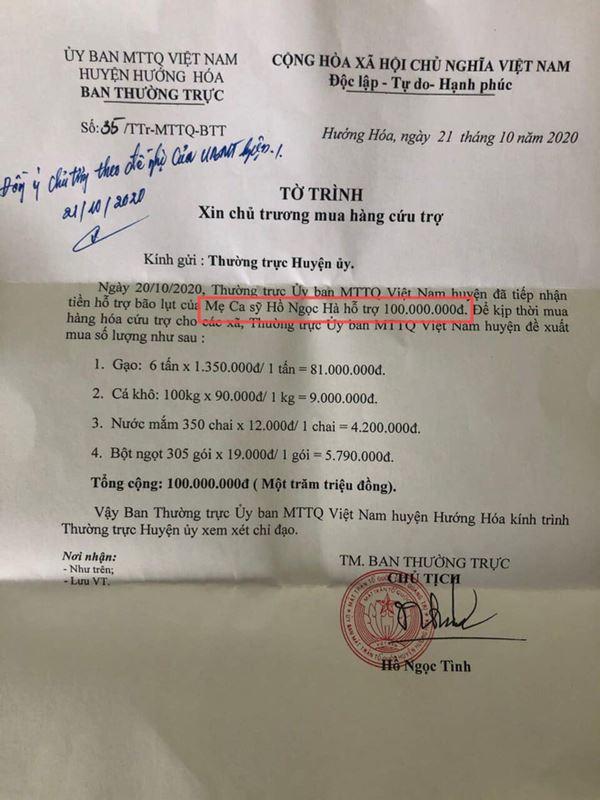 Đến mẹ Hà Hồ bị soi chi tiết gây tranh cãi, chỉ ghi tên cá nhân và con gái khi phát tiền trong đợt cứu trợ miền Trung?-5