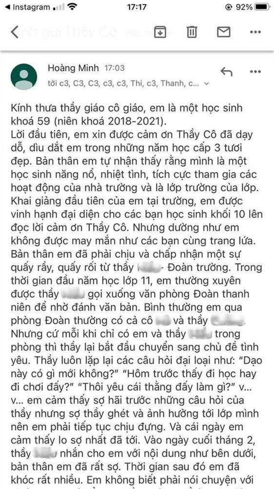 Sự thật bất ngờ vụ Thầy giáo Quảng Ninh bị tố quấy rối, nhắn tin tán tỉnh nữ sinh cấp 3: UBND TP đưa ra kết luận chính thức-2