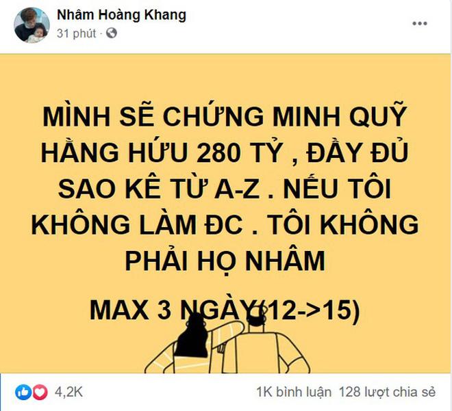 Cậu IT Nhâm Hoàng Khang bất ngờ lên tiếng về việc tung sao kê quỹ từ thiện: Quỹ này trong kịch bản của một bộ phim-2