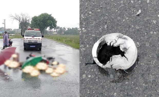 Hà Nội: Đôi nam nữ đi xe máy nghi bị sét đánh tử.vong trên đường-1