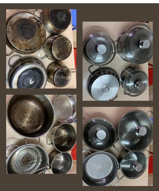 Mẹ đảm Hà Nội chia sẻ bí kíp tẩy trắng đồ bếp inox sáng bóng như mới-1