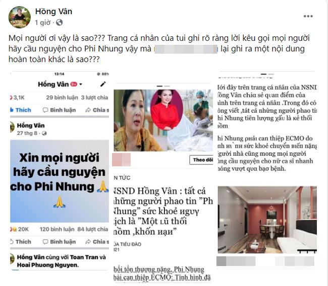 Hồng Vân lên tiếng về phát ngôn gây tranh cãi: Những người phao tin Phi Nhung nguy kịch là khốn nạn-1