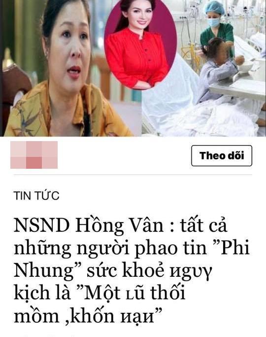 Hồng Vân lên tiếng về phát ngôn gây tranh cãi: Những người phao tin Phi Nhung nguy kịch là khốn nạn-2
