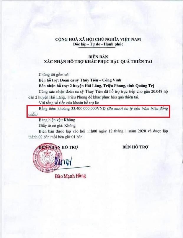 Netizen soi bằng được lỗi trong giấy tờ của Công Vinh và Thuỷ Tiên: Không rõ ngày tháng, số tiền bằng số và chữ khác nhau?-3