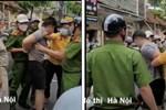 Tài xế lái ô tô gây náo loạn phố Hà Nội, công an cầm gạch ném cửa xe để khống chế đối tượng