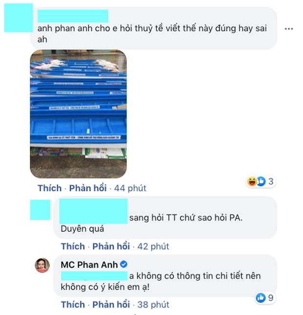MC Phan Anh đối 1:1 với loạt antifan đề cập đến chuyện từ thiện, phản ứng thế nào về lùm xùm tương tự của Thuỷ Tiên?-5