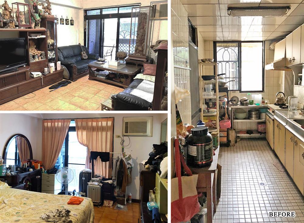 Căn hộ cũ kỹ xuống cấp với đồ đạc lộn xộn được biến hình thành không gian tinh tế, hiện đại dành cho vợ chồng trẻ-1