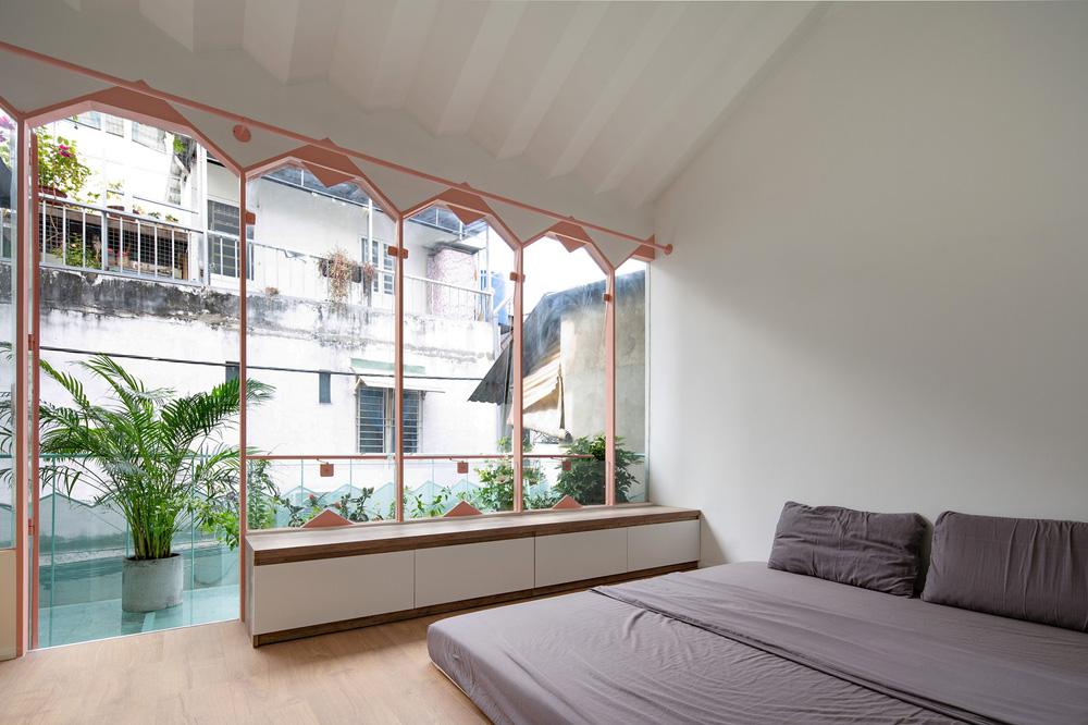 Ngôi nhà trong hẻm nổi bật với gam xanh mint siêu cưng, hay nhất là thiết kế zigzag độc lạ đỉnh của chóp-20