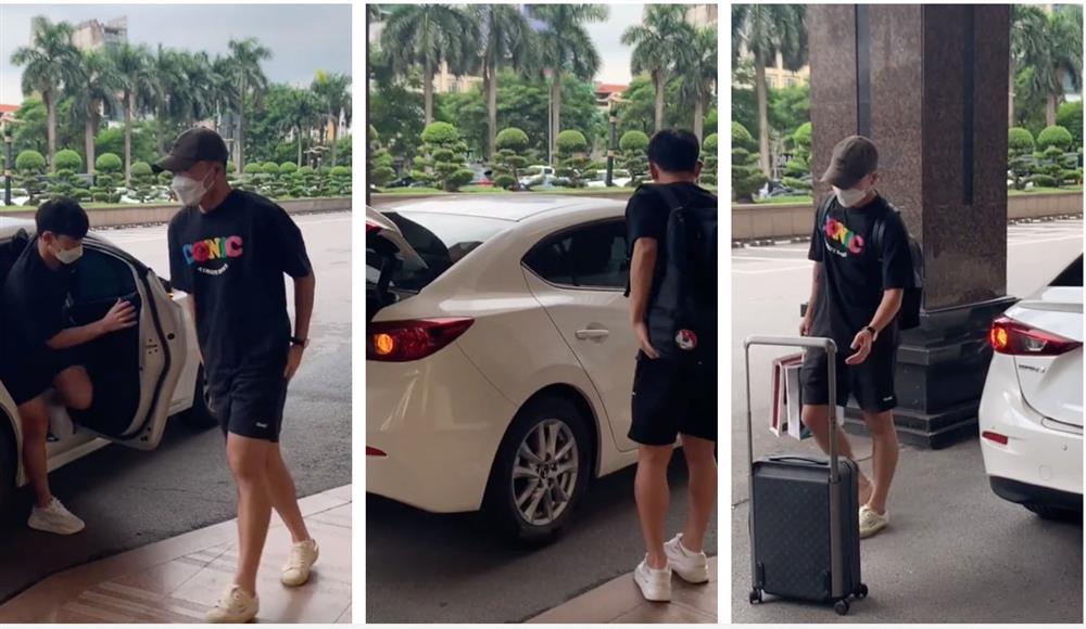 Tranh cãi thái độ của vợ Lương Xuân Trường khi lái ô tô đưa chồng lên tuyển: Lạnh lùng, không nhìn lấy một lần?-1