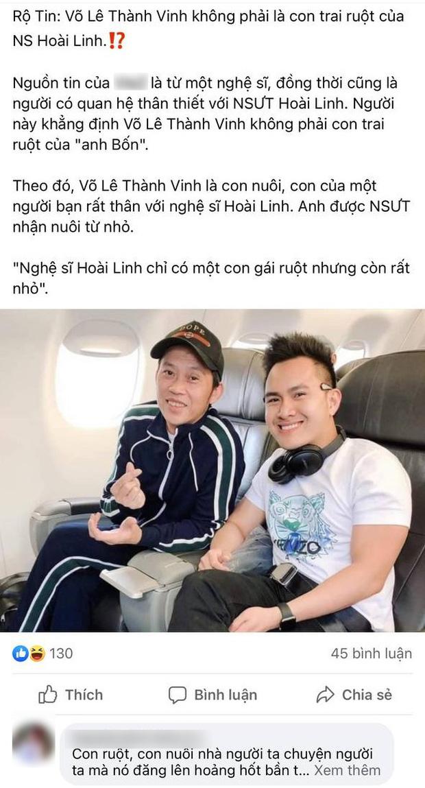 Võ Lê Thành Vinh chính thức lên tiếng trước thông tin không phải con ruột NS Hoài Linh-2