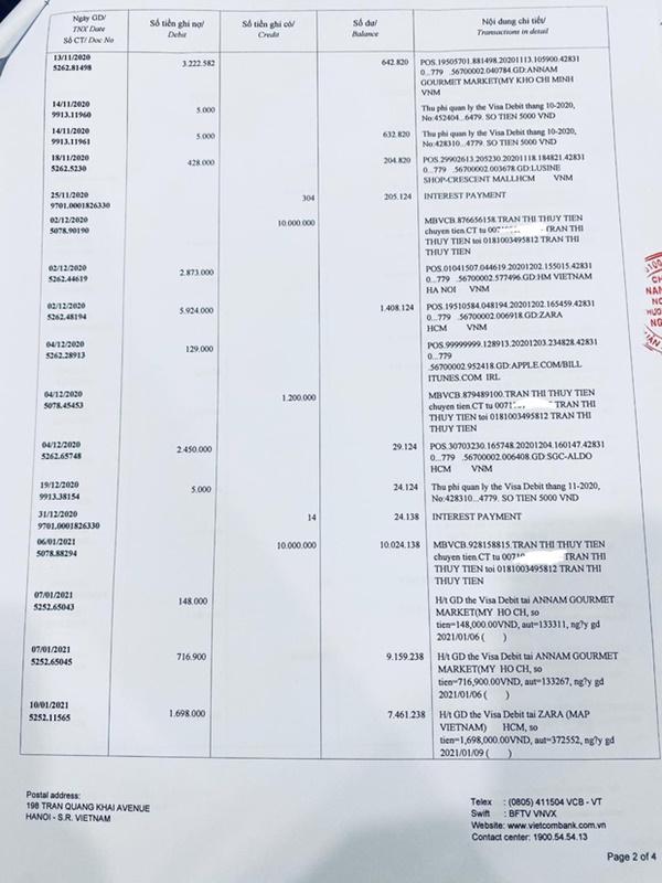 Thuỷ Tiên công bố 18.000 trang sao kê ngân hàng, làm rõ các khoản thu - chi và chốt 1 ý đặc biệt quan trọng-9