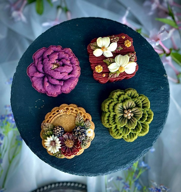 Hội chị em sángtạo đủ loại bánh Trung thuphi truyền thống đẹp xuất sắc, chỉ muốn ngắm chẳng nỡ ăn-13