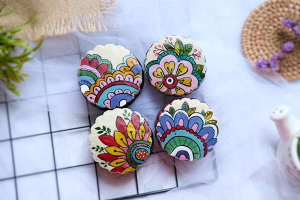 Hội chị em sángtạo đủ loại bánh Trung thuphi truyền thống đẹp xuất sắc, chỉ muốn ngắm chẳng nỡ ăn-16