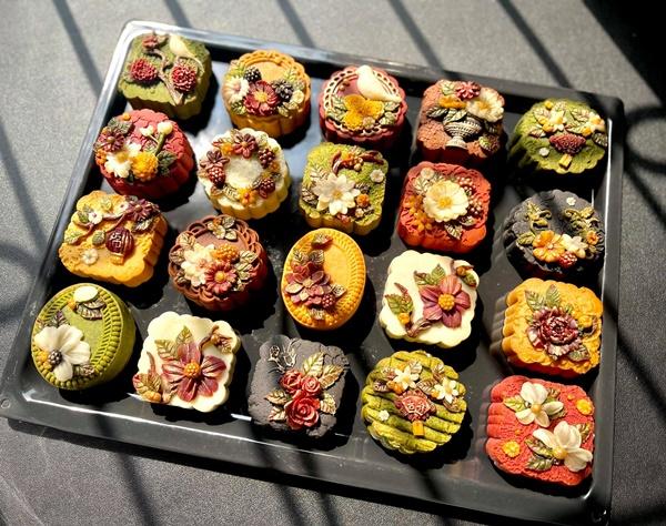 Hội chị em sángtạo đủ loại bánh Trung thuphi truyền thống đẹp xuất sắc, chỉ muốn ngắm chẳng nỡ ăn-15