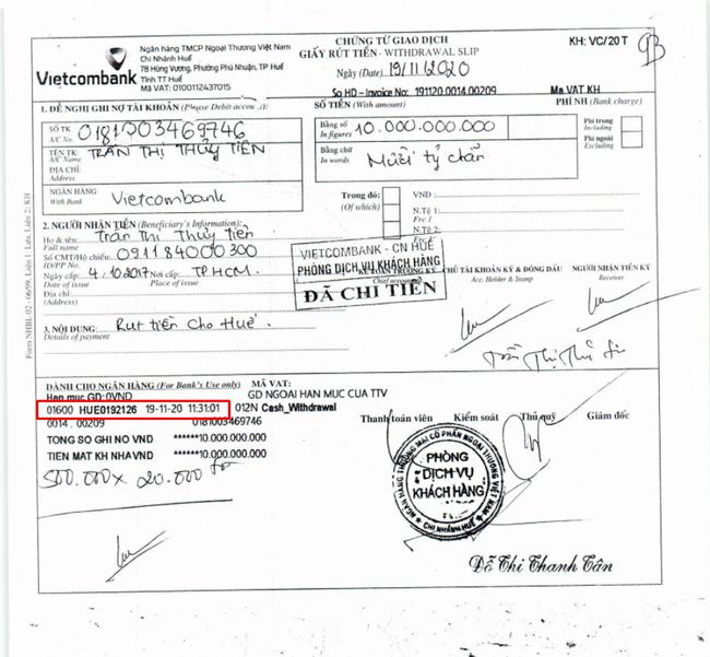 Thủy Tiên tiếp tục bị soi chi tiết rút tiền liên tiếp trong sao kê giao dịch tài khoản từ thiện-1