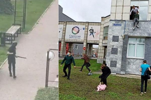 Nóng: Xả súng đẫm máu tại đại học Nga khiến 8 người chết, sinh viên hoảng loạn nhảy lầu bỏ chạy-1