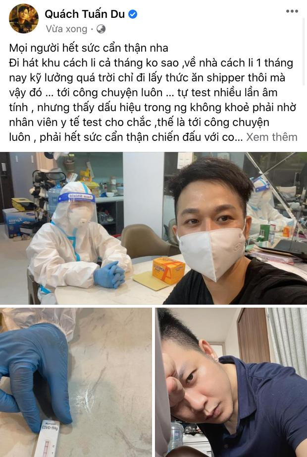 Ca sĩ Quách Tuấn Du nhiễm Covid-19-1