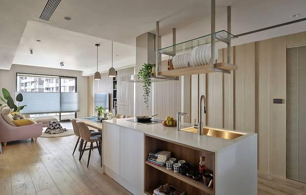 Cuộc sống hạnh phúc của gia đình 5 người trong căn hộ nhỏ, diện tích hạn chế nhưng không gian sống vẫn thoải mái và tiện nghi-7