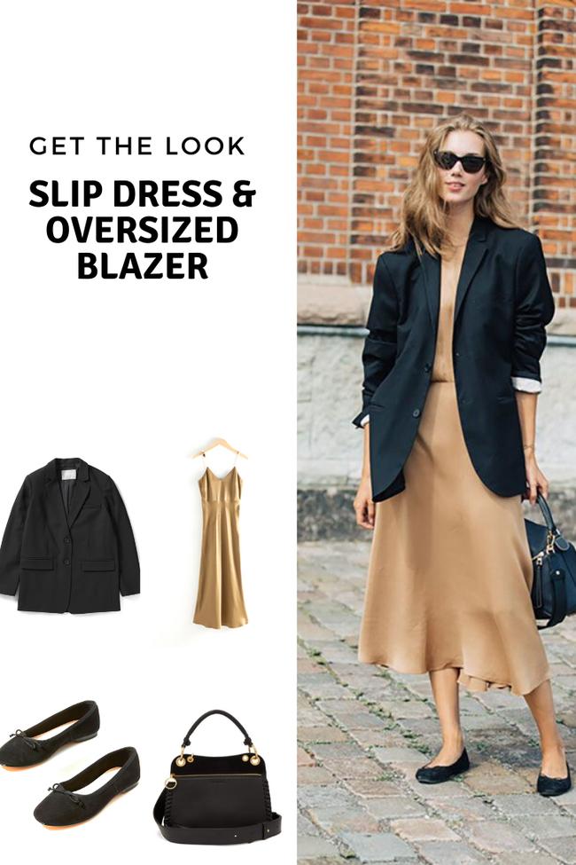 Slip dress + blazer: Cặp đôi trái dấu giúp nàng 30+ đẹp xuất sắc trong ngày trở lại sở làm-1