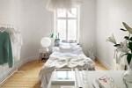 Căn hộ studio màu trắng độc lạ, trang trí đơn giản nhưng vô cùng trang nhã và sang trọng
