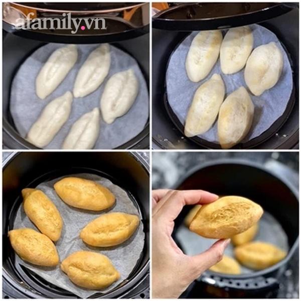Cách làm bánh mì chuột vỏ mỏng giòn bằng nồi chiên không dầu, ăn đến đâu mê mẩn đến đấy!-7