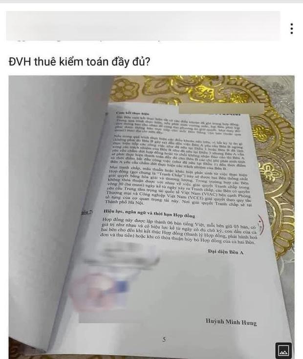 Rầm rộ bản hợp đồng được cho là của Đàm Vĩnh Hưng với 1 công ty kiểm toán?-1