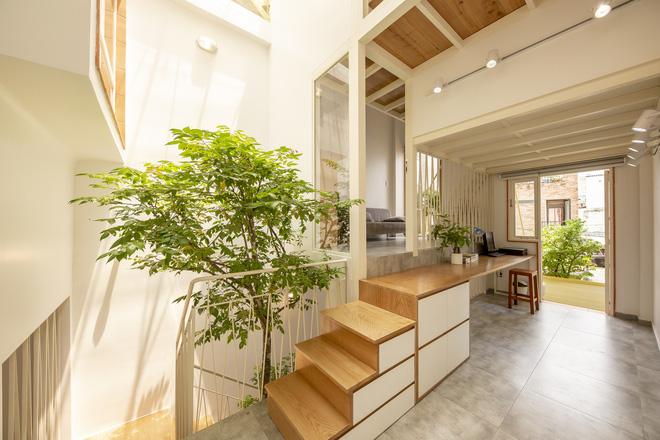 Nhà mái đôi Sài Gòn xinh ngất ngây với thiết kế lõi xanh, chỉ ngắm cũng thấy ngập tràn năng lượng tích cực-15