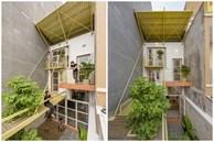 Nhà mái đôi Sài Gòn xinh ngất ngây với thiết kế 'lõi xanh', chỉ ngắm cũng thấy ngập tràn năng lượng tích cực