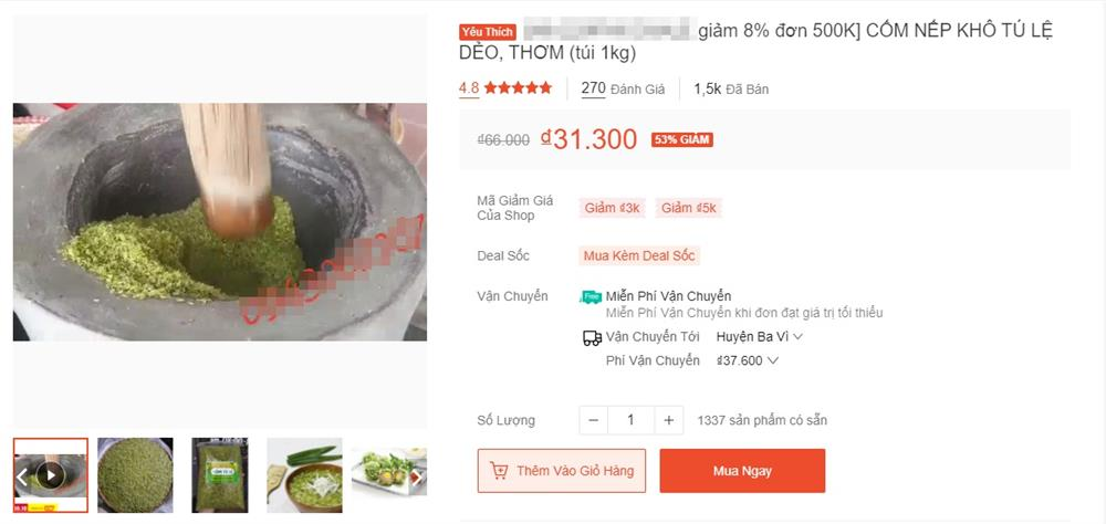 Cốm xanh Lệ Tú đặc sản Tây Bắc vào mùa rẻ chưa từng có giá bán chợ mạng chỉ 50 ngàn/kg-2