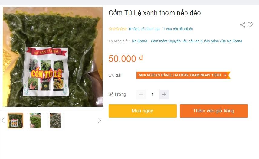 Cốm xanh Lệ Tú đặc sản Tây Bắc vào mùa rẻ chưa từng có giá bán chợ mạng chỉ 50 ngàn/kg-4