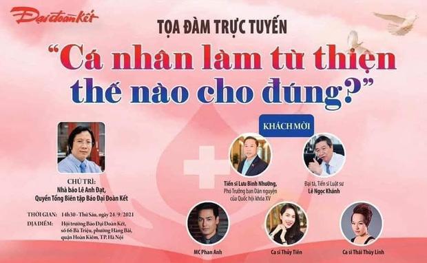 Xôn xao thông tin Thuỷ Tiên và Phan Anh cùng xuất hiện trong 1 buổi toạ đàm trực tuyến về từ thiện-1