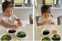 Con gái Thanh Thảo ăn bữa sáng siêu đơn giản nhưng khẩu phần ăn khiến ai cũng giật mình