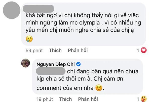 MC Diệp Chi tiết lộ lý do im lặng giữa tin Khánh Vy thay thế mình tại Đường Lên Đỉnh Olympia-2
