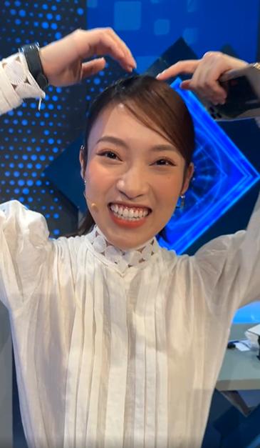 Khánh Vy xuất hiện trước giờ lên sóng tập đầu tiên của Đường Lên Đỉnh Olympia khẳng định mối quan hệ với tiền bối Diệp Chi-3