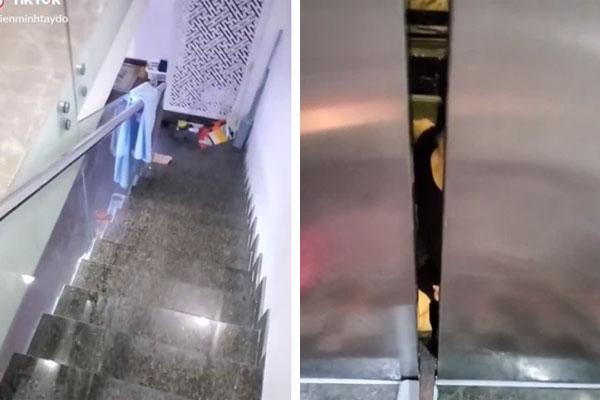 """Người đàn ông đăng clip cảnh mẹ bị kẹt trong thang máy của gia đình, dân mạng bình luận hoá ra nhà giàu có tiền xây thang máy cũng không hẳn sung sướng""""-1"""
