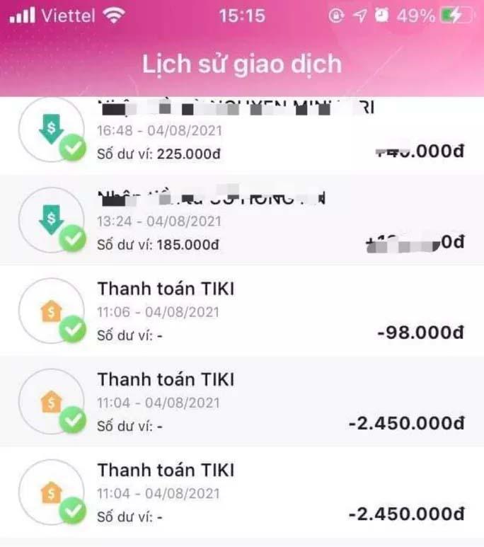 Người dùng ví điện tử bị lừa mất tiền vì chủ quan-1