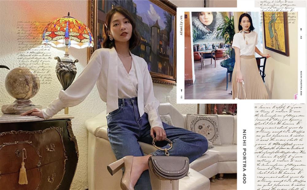 Khả Ngân trong 11 Tháng 5 Ngày có loạt cách diện áo trắng vừa đẹp vừa sang để nàng công sở copy theo-1