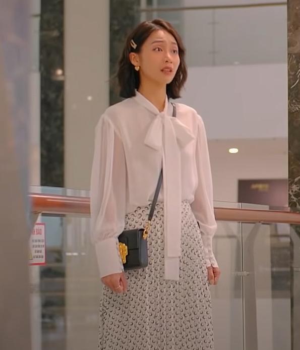 Khả Ngân trong 11 Tháng 5 Ngày có loạt cách diện áo trắng vừa đẹp vừa sang để nàng công sở copy theo-7