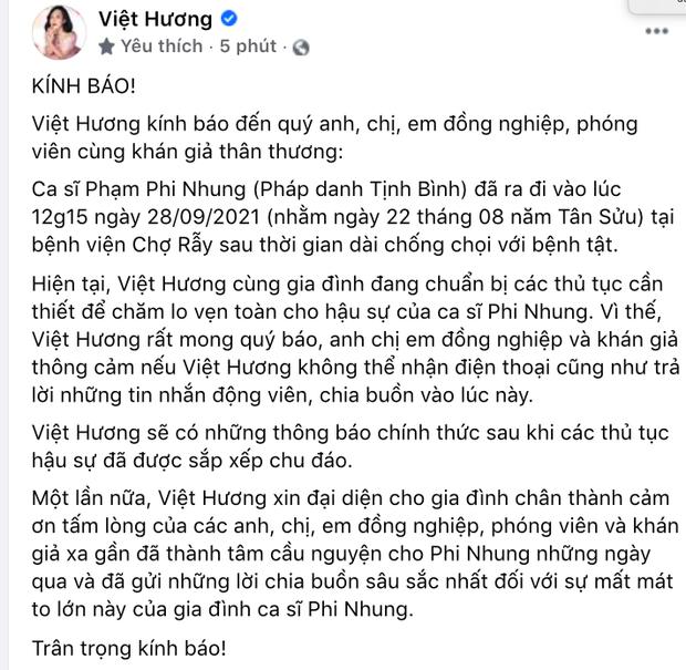 NS Việt Hương đại diện gia đình đang chuẩn bị các thủ tục hậu sự cho ca sĩ Phi Nhung-1