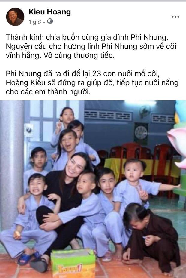 Tỷ phú Hoàng Kiều thông báo sẽ thay Phi Nhung nuôi 23 đứa trẻ mồ côi và khẳng định 1 điều chắc nịch!-1