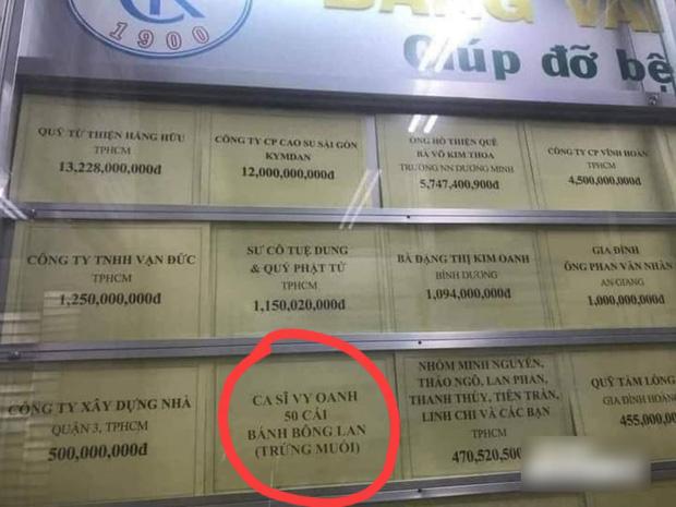Vy Oanh lên tiếng khi liên tiếp bị vu khống, làm rõ chuyện quyên góp 50 chiếc bánh giữa danh sách ủng hộ tiền tỷ-1