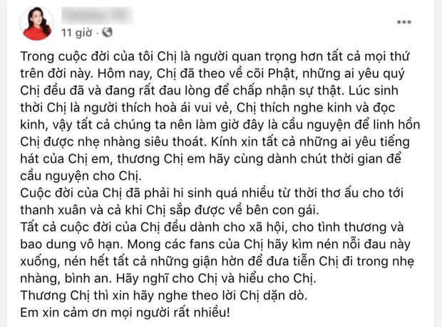 Em trai ruột ca sĩ Phi Nhung mong 1 điều để vong linh chị gái ra đi thanh thản-1
