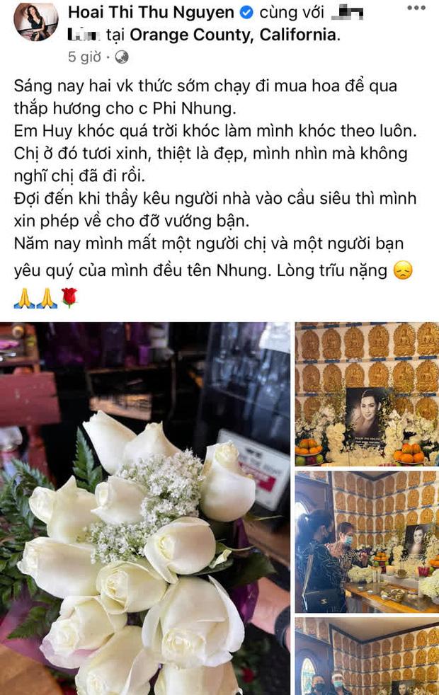Lễ cúng thất đầu của ca sĩ Phi Nhung ở Mỹ: Con gái ruột và vợ cũ Bằng Kiều đội tang, Thanh Thảo - Thu Hoài cùng dàn sao Việt đến chia buồn-11